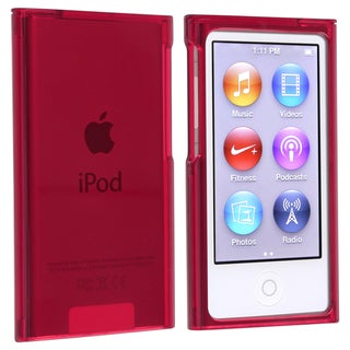 INSTEN Clear Red Snap-on Slim iPod Case Cover for Apple iPod Nano Generation 7