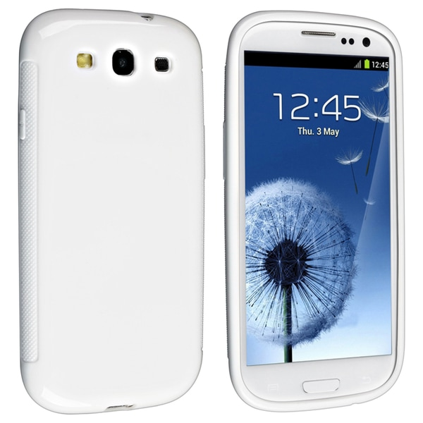 BasAcc White Pudding TPU Rubber Case for Samsung Galaxy S III/ S3