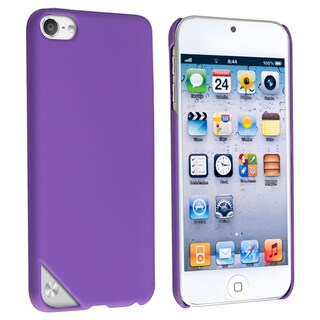 INSTEN Purple Rubber Coated iPod Case Cover for Apple iPod Touch 5th Generation