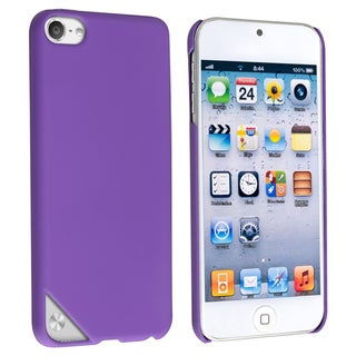 Insten Purple Hard Snap-on Rubberized Matte Case Cover For Apple iPod Touch 5th/ 6th Gen