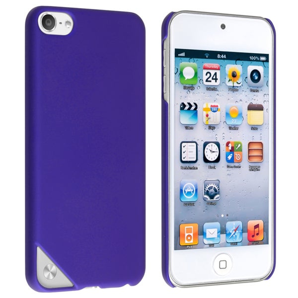 INSTEN Blue Rubber Coated iPod Case Cover for Apple iPod Touch 5th Generation