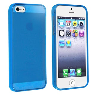 BasAcc Clear Blue TPU Case for Apple iPhone 5