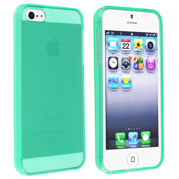 INSTEN Clear Neon Green TPU Phone Case Cover for Apple iPhone 5/ 5S