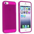 BasAcc Clear Hot Pink TPU Case for Apple iPhone 5/ 5S