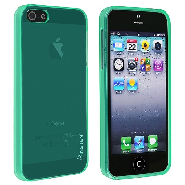 Insten TPU Rubber Candy Phone Case for Apple iPhone 5/ 5S