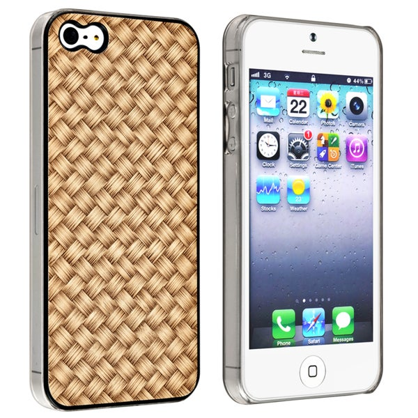 INSTEN Light Brown Twill Snap-on Phone Case Cover for Apple iPhone 5