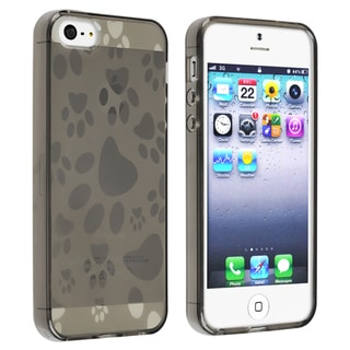 BasAcc Clear Smoke Dog Paw TPU Rubber Case for Apple iPhone 5