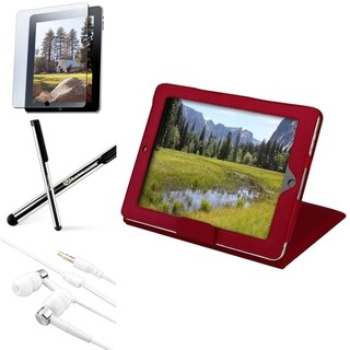 INSTEN Tablet Case Cover/ Screen Protector/ Headset/ Stylus for Apple iPad 2