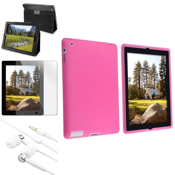INSTEN Tablet Case Cover/ Screen Protector/ Headset for Apple iPad 2