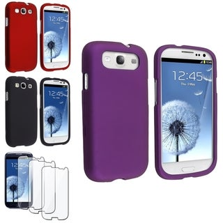 BasAcc Black/ Purple Case/ Screen Protector for Samsung� Galaxy S3