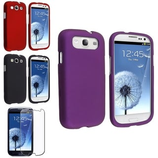 BasAcc Red/ Purple Case/ Screen Protector for Samsung� Galaxy S3