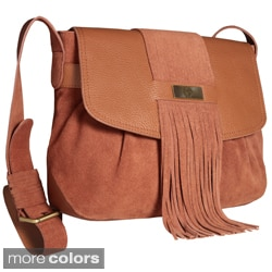Alla Leather Art 'Victoria' Fringe Crossbody