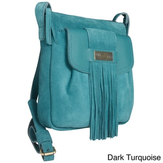 Alla Leather Art 'Agara' Small Fringe Detail Crossbody