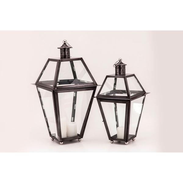 Newport Black Zinc Lantern