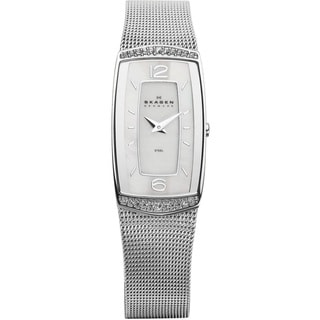 Skagen Women's 887SSS Square Silvertone Bracelet Watch