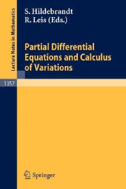 Partial Differential Equations and Calculus of Variations (Paperback)
