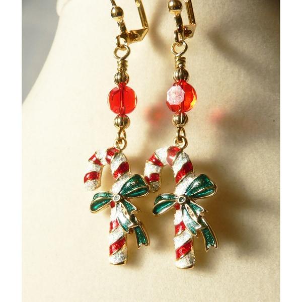 'Candy Cane' Dangle Earrings