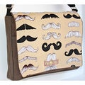 Handmade Medium Brown Mustache Messenger Bag