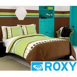 Roxy Kelly Colorblock 3-piece Comforter Set