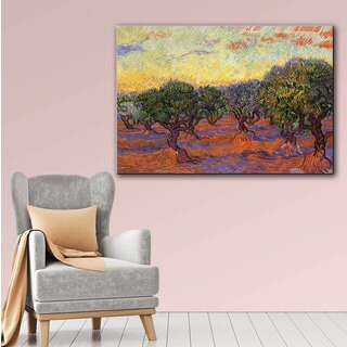 Vincent van Gogh 'Olive Grove with Yellow Sky' Wrapped Canvas Art
