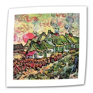 Vincent van Gogh 'Cottages Reminiscent of North' Flat Canvas Art