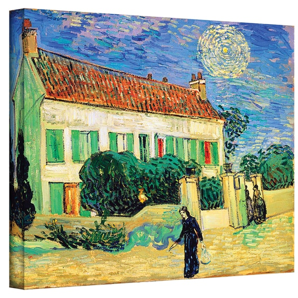 Vincent van Gogh 'The White House at Night' Wrapped Canvas Art