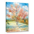 Vincent van Gogh &#39;Pink Peach Tree&#39; Wrapped Canvas Art