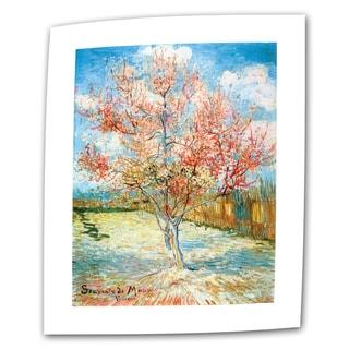 Vincent van Gogh 'Pink Peach Tree' Flat Canvas Art