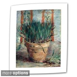 Vincent van Gogh 'Chives' Flat Canvas Art
