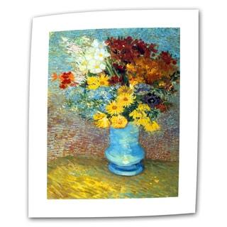 Vincent van Gogh 'Flowers in Blue Vase' Flat Canvas Art