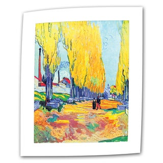 Vincent van Gogh 'Les Alyscamps' Flat Canvas Art