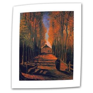 Vincent van Gogh 'Avenue of Poplars in Autumn' Flat Canvas Art