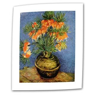 Vincent van Gogh 'Fritillaries' Flat Canvas Art
