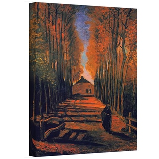 Vincent van Gogh 'Avenue of Poplars in Autumn' Wrapped Canvas Art