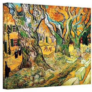 Vincent van Gogh 'The Road Menders' Wrapped Canvas Art