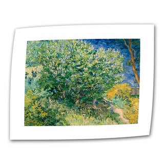 Vincent van Gogh 'Lilacs' Flat Canvas Art