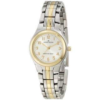 Anne Klein Women's Silver Stainless-Steel Watch with Silver Dial