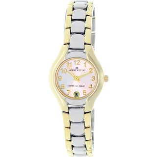 Anne Klein Women's Silver Stainless-Steel Watch with Arabic Numerals