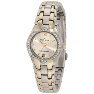 Anne Klein Women's Silver Stainless-Steel Watch with Roman Numerals