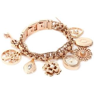 Anne Klein Women's Rose-goldtone Brass Steel Watch