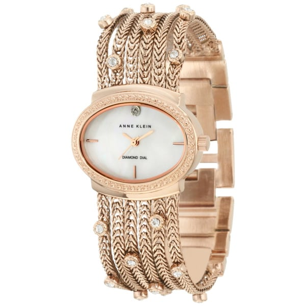 Anne Klein Women's Rose-gold Brass Steel Watch