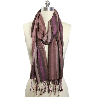 Saachi Women's Shimmer Stripe Scarf (India)