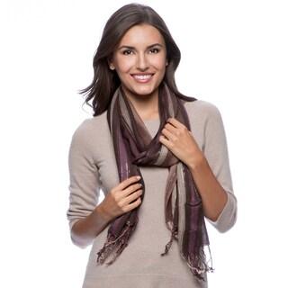 Saachi Women's Shimmer Stripe Scarf (India)