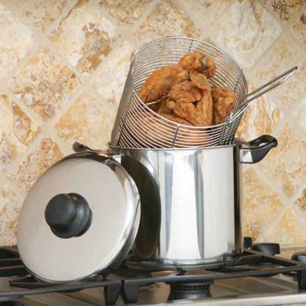 Stainless Steel Deep Fryer with Strainers Set 10395482