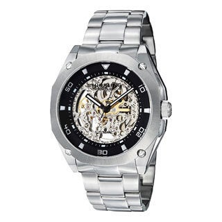 Stuhrling Original Men's Gallant Automatic Skeleton Stainless Steel Bracelet Watch