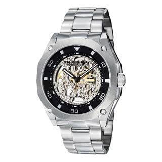 Stuhrling Original Men's Gallant Automatic Skeleton Stainless Steel Bracelet Watch