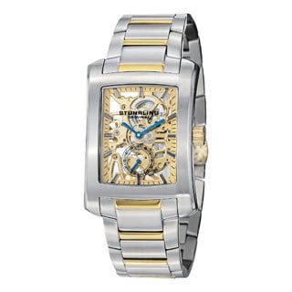 Stuhrling Original Men's Midtown Banker Elite Mechanical Goldtone Stainless Steel Bracelet Watch