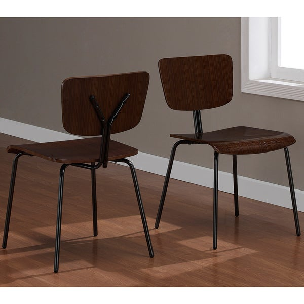 Reed Zebra Wood Dining Chairs (Set of 2)