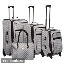 Pierre Cardin Signature 4 Piece Spinner Luggage Set