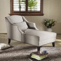 Baxton Studio 'Asteria' Putty Gray Linen Modern Chaise Lounge